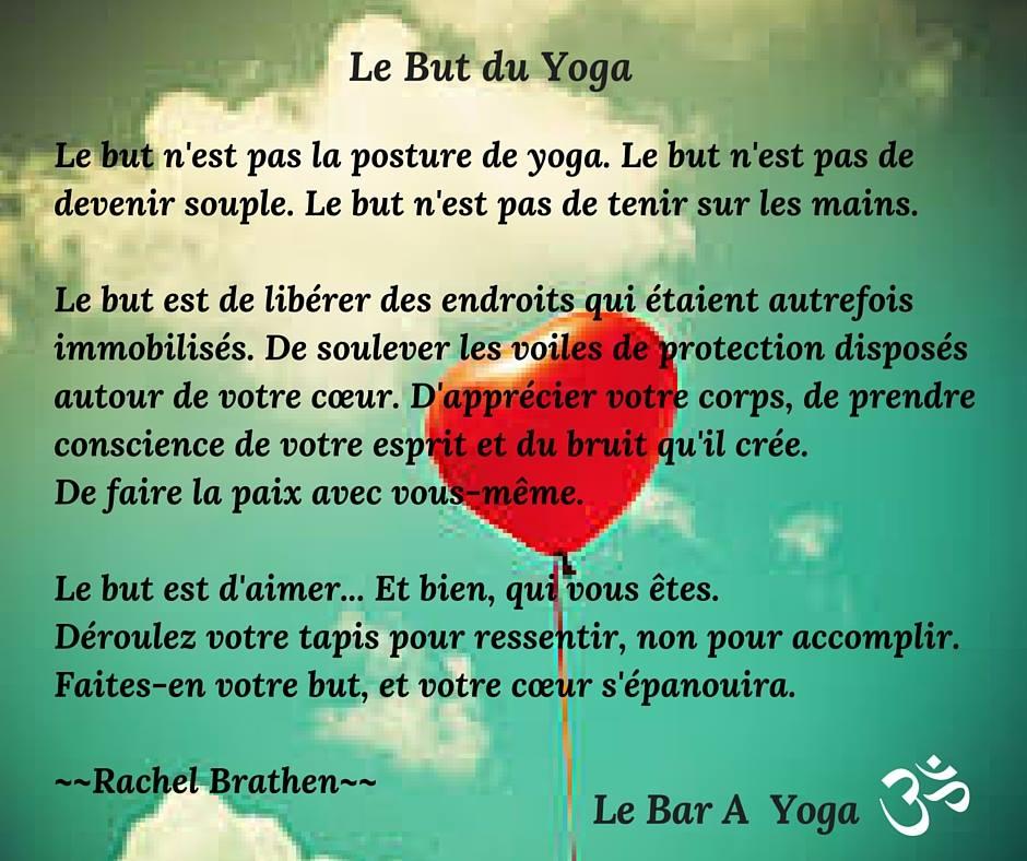 le but du yoga