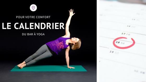 Calendrier Yoga Charenton et Paris